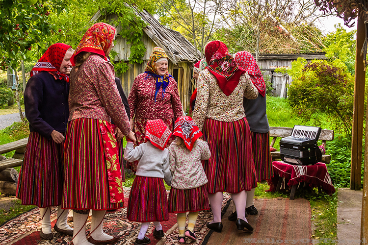 Kihnu women dancing on the Estonian island in the Gulf of Riga, the Baltic Sea on Mallory on Travel adventure, adventure travel, photography Iain_Mallory_1402820 kihnu_women
