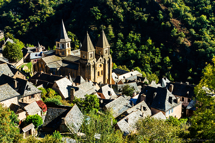 Saint Foy Abbey, Conques near Villefranche de Rouergue in the Aveyron region of the South of France on Mallory on Travel adventure, adventure travel, photography Iain_Mallory_Ave1403448 saint_foy