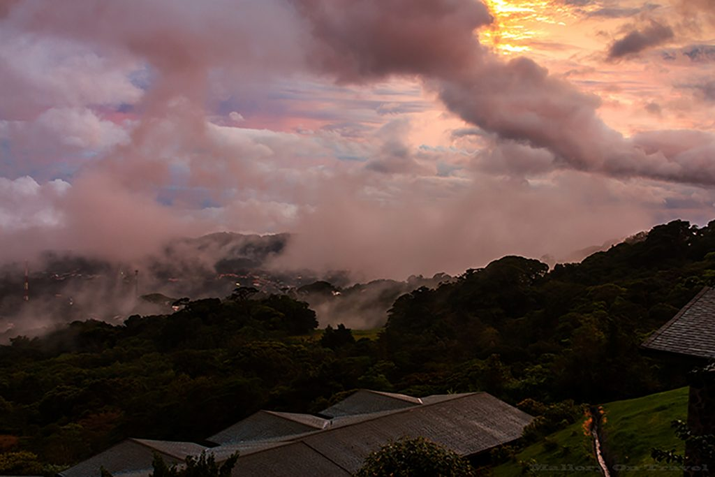 Darkening skies at sunset in the cloudforests of Monteverde in Costa Rica on Mallory on Travel adventure, adventure travel, photography Iain Mallory_9039 cloudforest