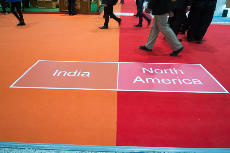Floor markings at the World Travel Market (WTM) at the Excel, London on Mallory on Travel adventure, adventure travel, photography wtm-1
