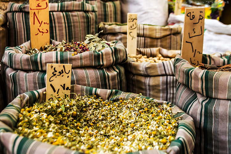 Spices on a market stall in Amman, capital city of Jordan on Mallory on Travel adventure, adventure travel, photography Iain_Mallory_Jordan1409050