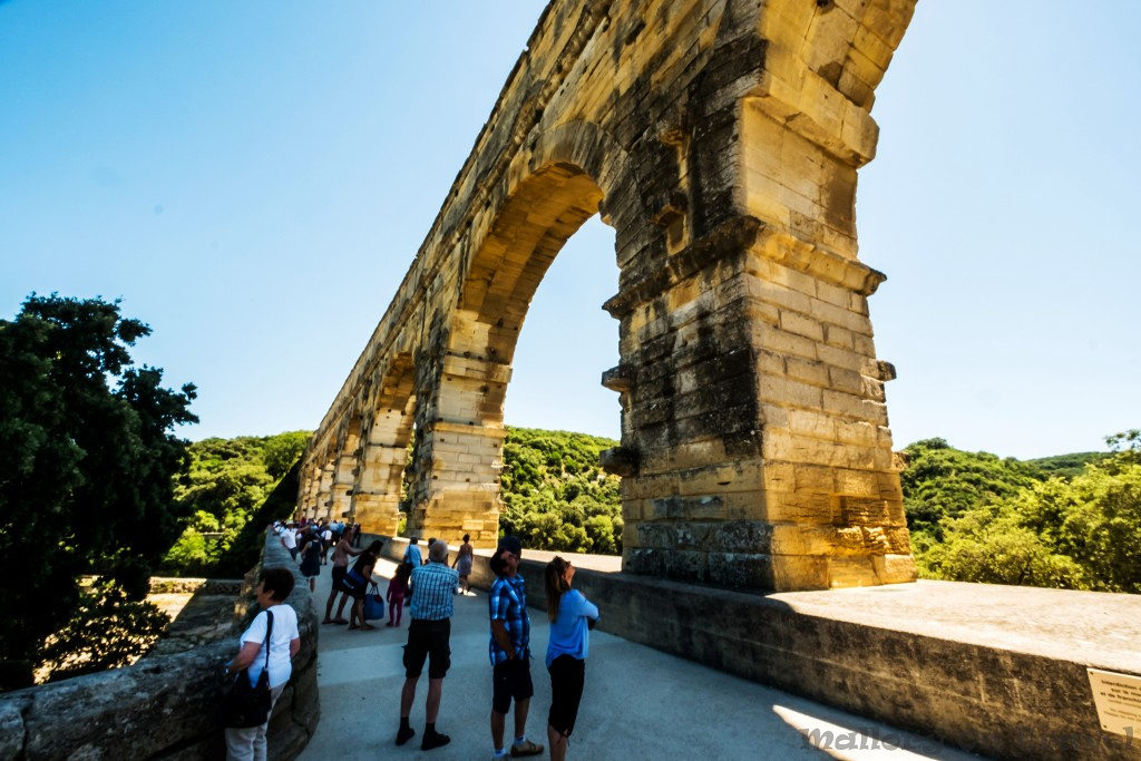 Pont du Gard Roman aqueduct near Nimes in the Provence department of southern France on Mallory on Travel adventure, adventure travel, photography Iain_Mallory_Rhone1411908