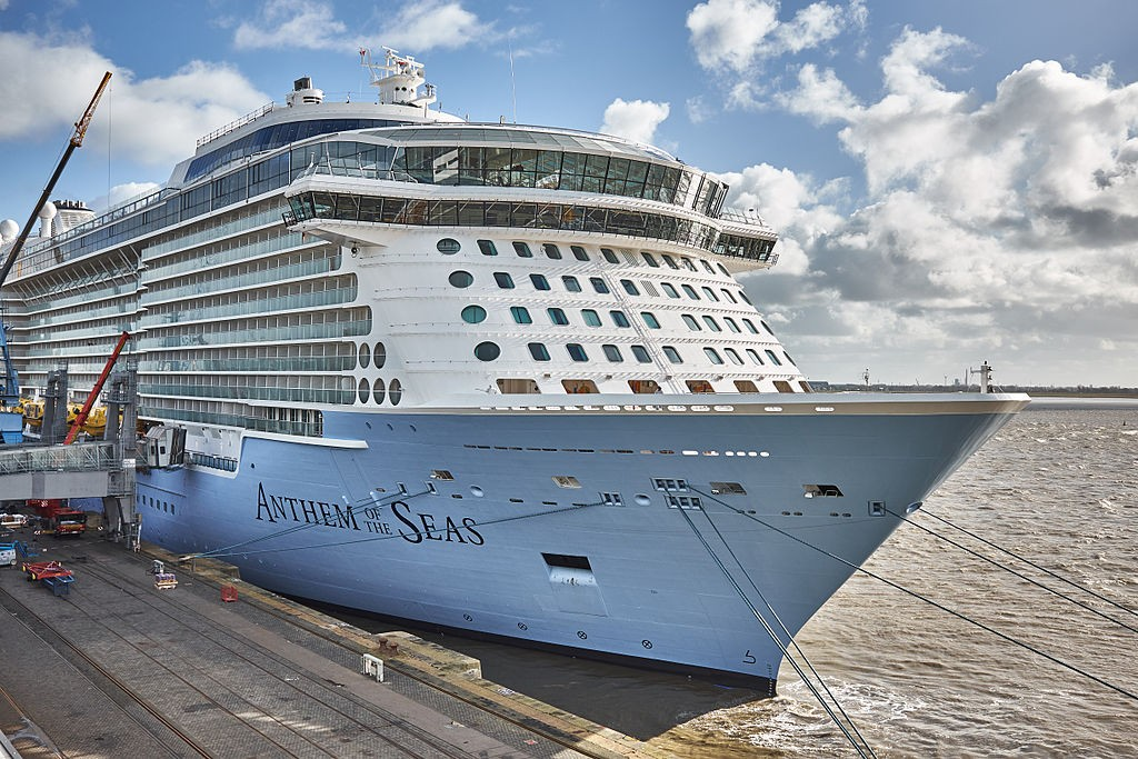 MS Anthem of the Seas is a cruise liner operated by Royal Caribbean International. She is the second ship of the Quantum class, surpassing the preceding Freedom-class ships by more than 14,000 GT. on Mallory on Travel adventure, adventure travel, photography
