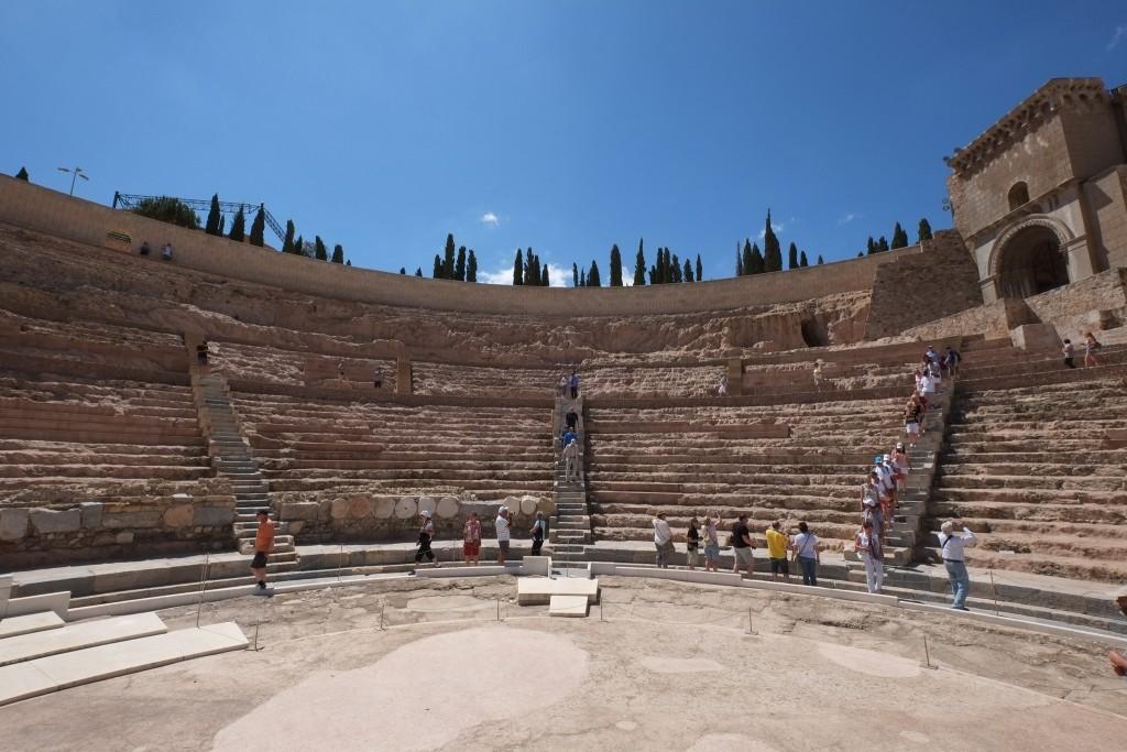 Roman Amphitheatre in Cartagena, Costa Cálida in Murcia on the Mediterranean coast of Spain on Mallory on Travel adventure travel, photography, travel DSCF3964