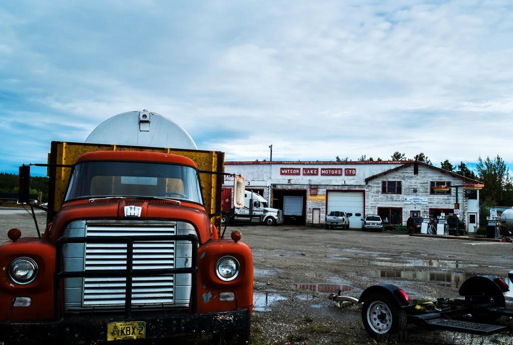 Watson Lake Service Station in The Yukon, Canada on Mallory on Travel adventure travel, photography, travel Iain Mallory-Yukon_2021