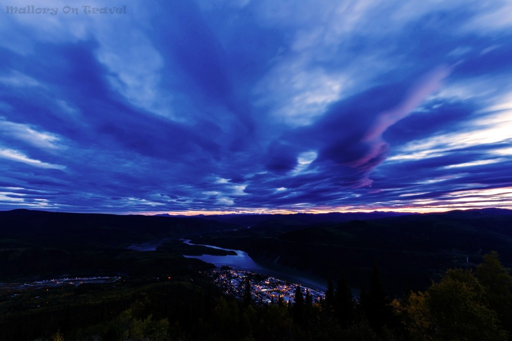 Sunset over Dawson City and the Klondike River from Midnight Dome in the Yukon, Canada on Mallory on Travel adventure travel, photography, travel Iain Mallory-Yukon_2186-2