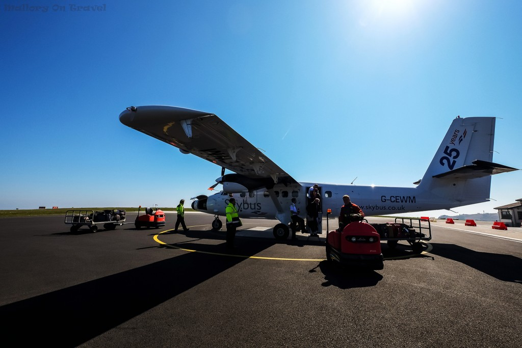 Loading the skybus plane in Newquay for the flight to St Mary's the Scilly Isles on Mallory on Travel adventure travel, photography, travel Scilly Isles-141