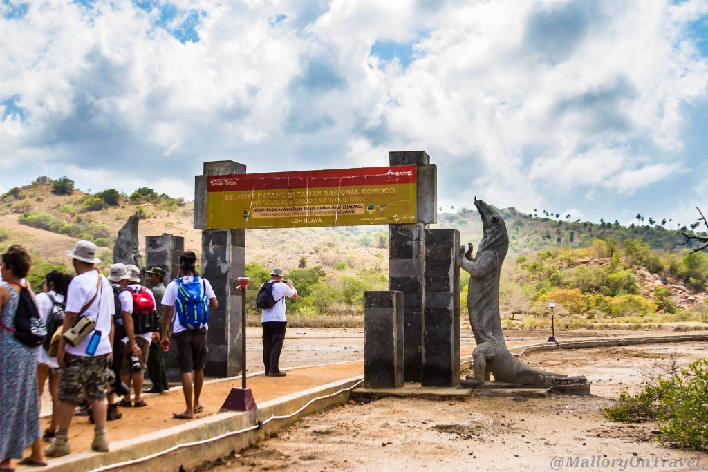 The entrance to Loh Buaya on Rinca island in the Komodo archipelago of the Republic of Indonesia Iain_Mallory_Indo14894