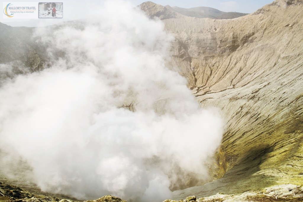 The steaming crater of Mount Bromo an active volcano rising from the Sea of Sand in the Tennger massif in East Java, Indonesia on Mallory on Travel adventure travel, photography, travel Iain_Mallory_Indo8234
