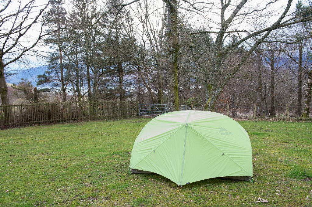 Pitched MSR Hubba Hubba HP tent at Castlerigg Hall campsite near Keswick in Lakeland, Cumbria on Mallory on Travel adventure travel, photography, travel George Fisher-1