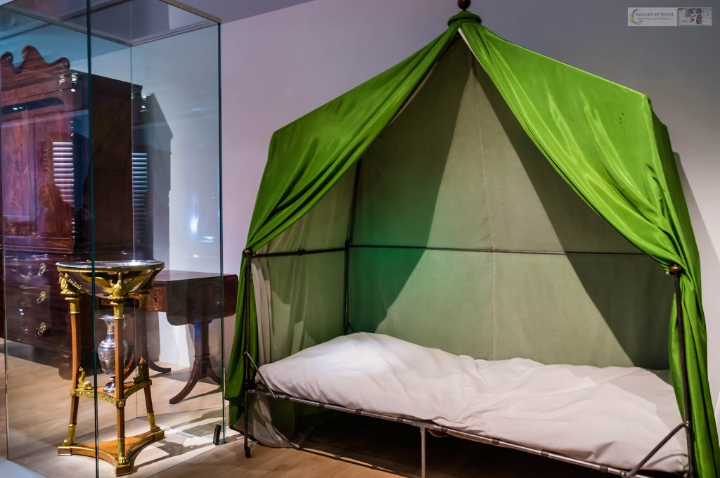 Napoleon in St Helena; Conquering Memory, Napoleon's camp cot at the Musée de l'Armée Les Invalides in Paris, France on Mallory on Travel adventure travel, photography, travel Iain_Mallory_Musee-3548