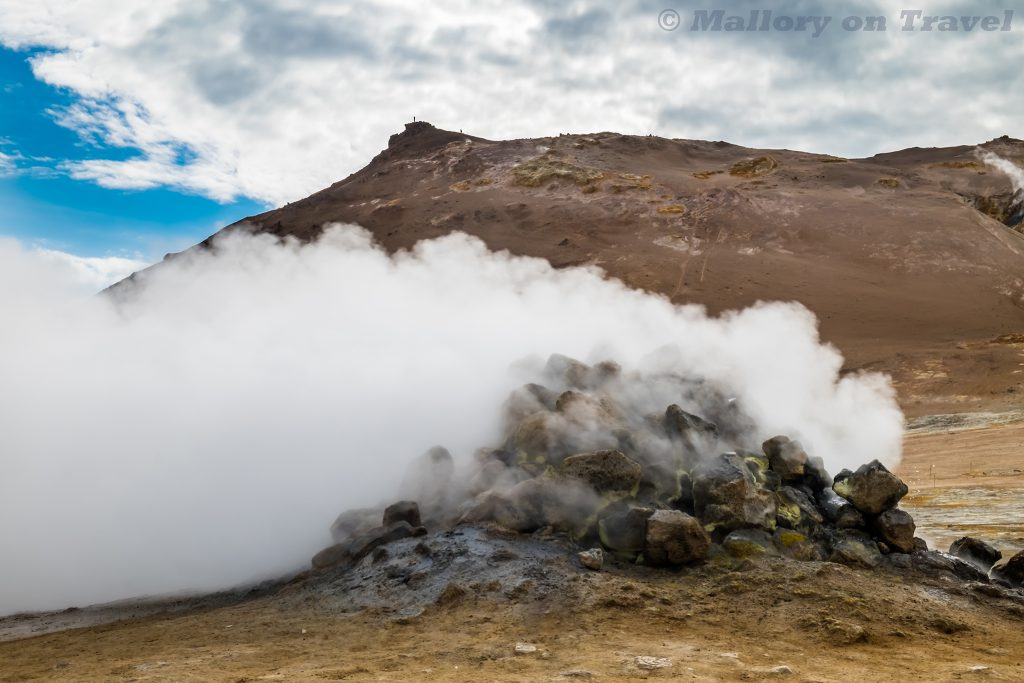 Geothermal activity in the form of geysers on the ring road near Mvyatn in north east Icelandon Mallory on Travel adventure travel, photography, travel Iain_Mallory_Iceland-5510