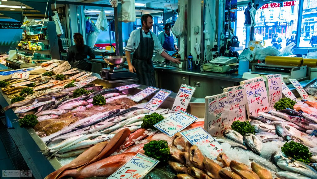 The fish market in the Arndale Centre, Manchester northern capital city of England on Mallory on Travel adventure travel, photography, travel Iain_Mallory_Manchester-3297