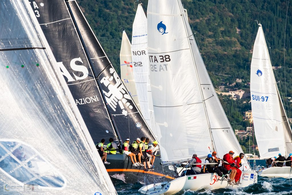 Startline of the Centomiglia regatta yacht race on Lake Garda in Lombardia, Italy on Mallory on Travel adventure travel, photography, travel iain-mallory_garda-1-24