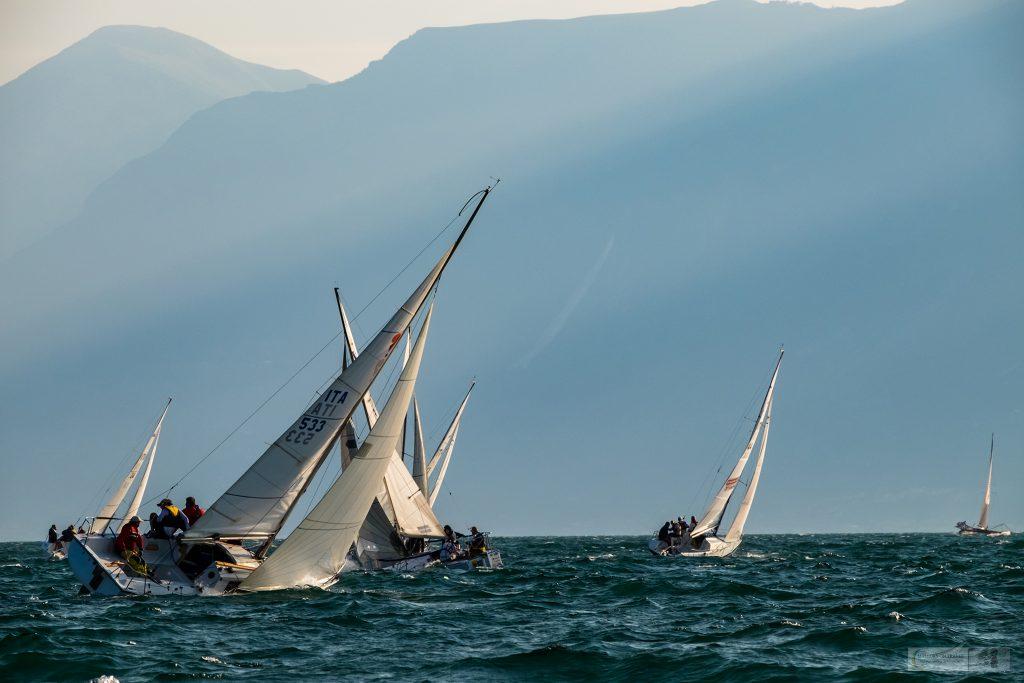 Racers in the Centomiglia yacht racing regatta on Lake Garda in the Lombardia region of Italy on Mallory on Travel adventure travel, photography, travel iain-mallory_garda-1-31