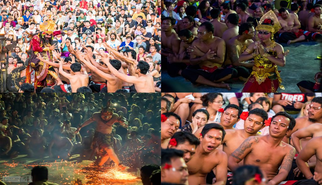 The Kecak Fire Dance Performance in the Uluwatu Temple in Bali, Indonesia on Mallory on Travel adventure travel, photography, travel iain-mallory-indomontage3