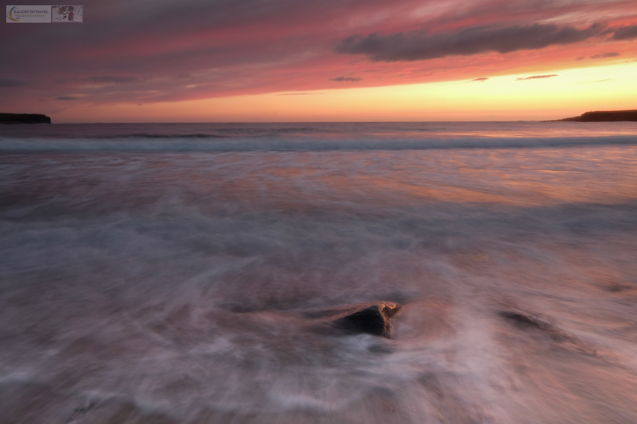Sunset at Skaill Bay on the Island of Orkney in the highlands and islands of Scotland on Mallory on Travel adventure travel, photography, travel iain-mallory_scotland3435