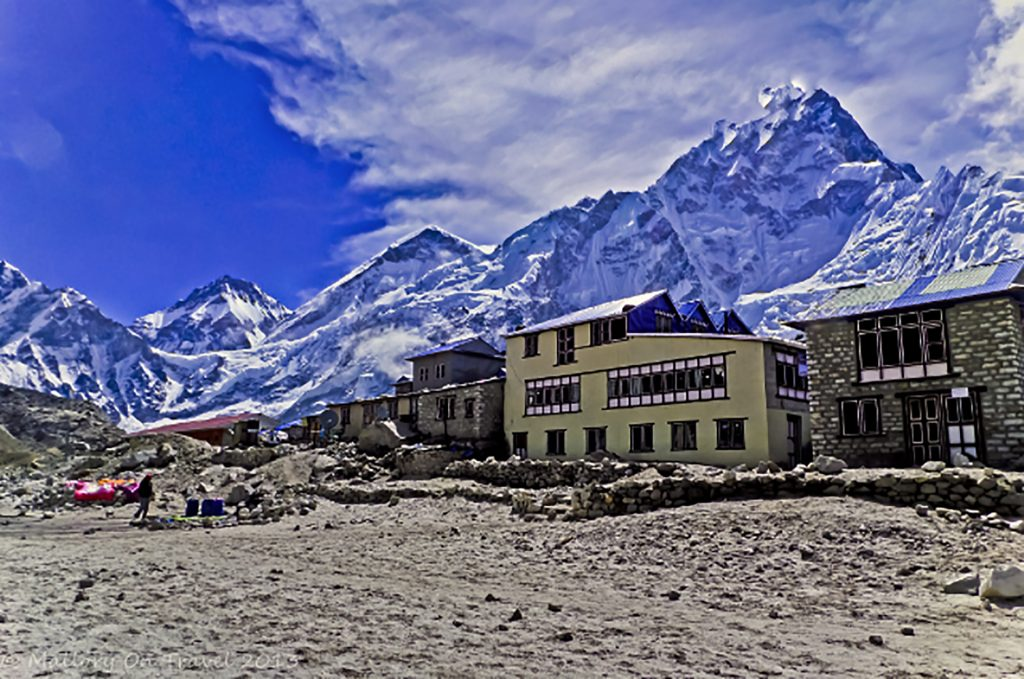 Travel inspiration; The highest inhabited village in the world, Gorak Shep in the Himalaya, on the Everest base camp trek in Nepal on Mallory on Travel adventure travel, photography, travel Iain Mallory-300-134