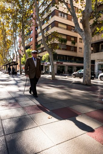 Street life in Murcia; Mature Spanish gentleman taking a stroll in the city of Murcia in Costa Calida in Spain on Mallory on Travel adventure travel, photography, travel Iain Mallory_Murcia 001-174