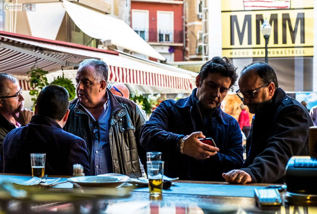 Street life in Murcia; Male casual diners at La Tapa restaurant in Murcia, Costa Calida in Spain on Mallory on Travel adventure travel, photography, travel Iain Mallory_Murcia 001-184
