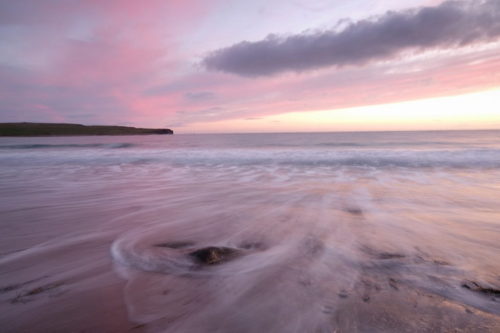Travel inspiration for gloomy days; A beach on the Island of Orkney, the Bay of Skaill in the highlands and islands of Scotland on Mallory on Travel adventure travel, photography, travel Iain Mallory Scots4186