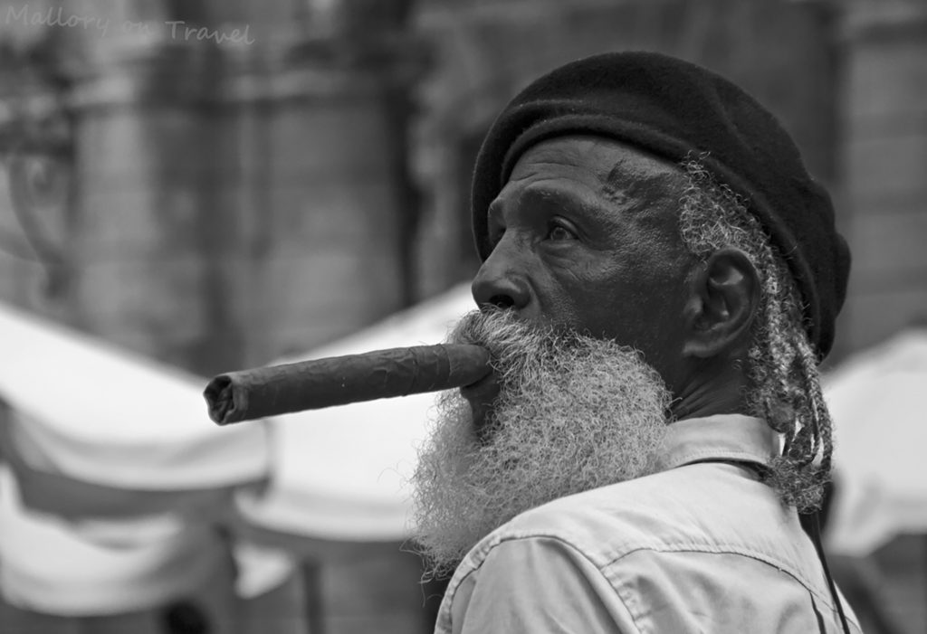Favourite photos; Cuban cigar smoking model in old Havana, Cuba on Mallory on Travel adventure travel, photography, travel Iain Mallory-300-239