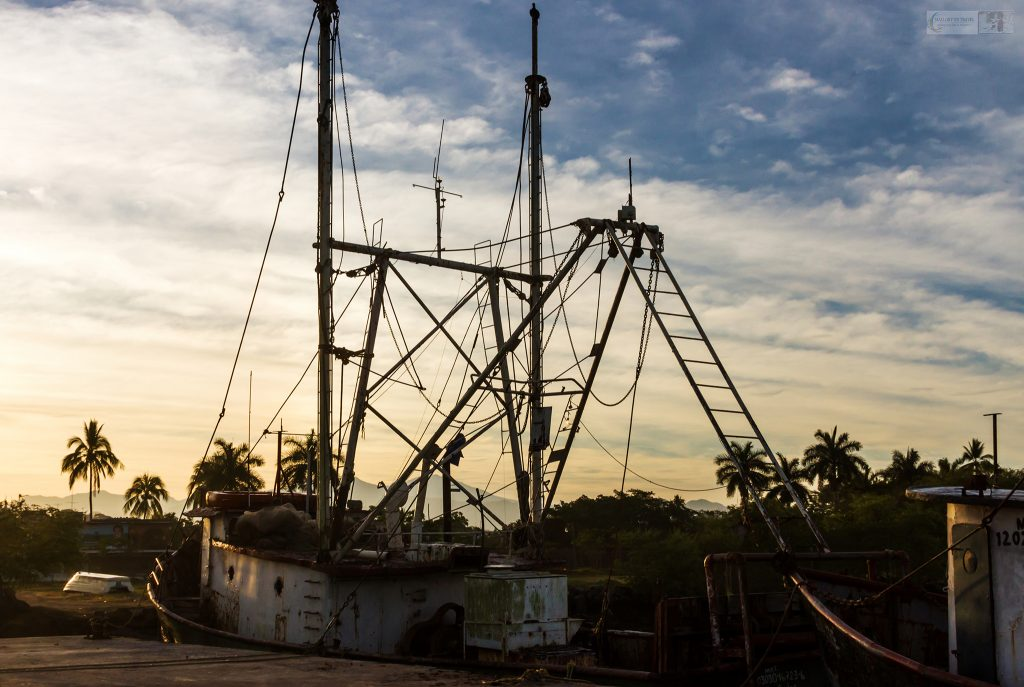 A pacific coast fishing vessel in the harbour of San Blas on the Riviera Nayarit, Mexico on Mallory on Travel adventure travel, photography, travel Iain Mallory_Mex 001-63