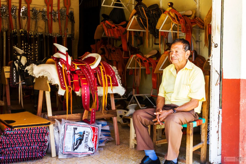 Saddlery owner in San Blas in the Pacific Riviera Nayarit, Mexico on Mallory on Travel adventure travel, photography, travel Iain Mallory_Mex 001-77