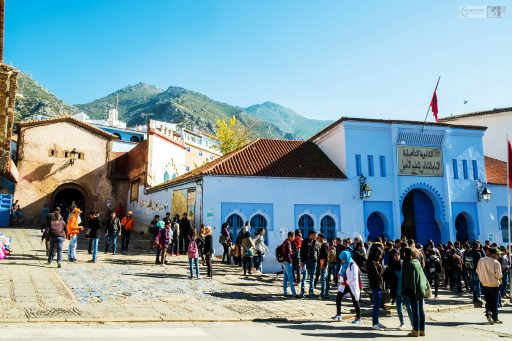Children coming out of school in the Blue City, Chefchaouen in the Rif Mountains of northern Morocco on Mallory on Travel adventure travel, photography, travel Iain Mallory_Morocco 013