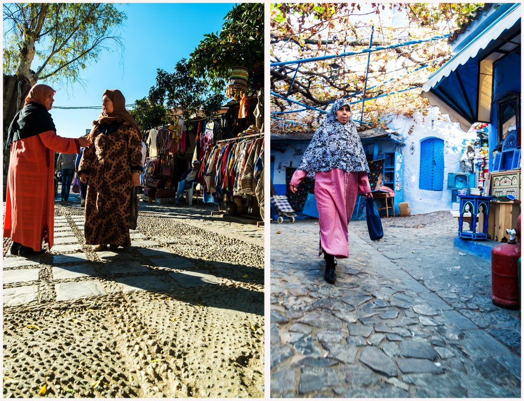 Ladies on the streets of Chefchaouen, in the Rfi Mountains of Morocco on Mallory on Travel adventure travel, photography, travel Iain Mallory_Morocco 029a