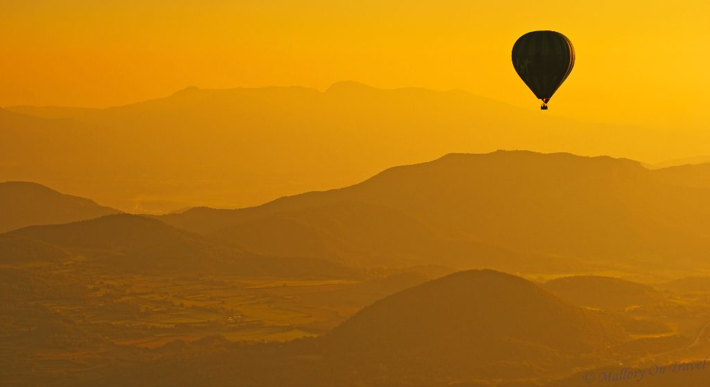 Hot air balloon over La Garrotxa in the Pyrenees mountains of Costa Brava in Caltalunia, Spain on Mallory on Travel adventure travel, photography, travel Iain_Mallory_067701