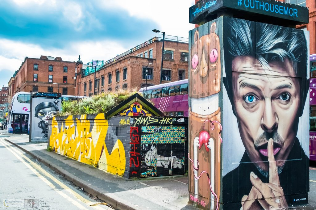 Street art in Manchester, a David Bowie portrait in the north-west of England city on Mallory on Travel adventure travel, photography, travel Iain_Mallory_Manchester-3248