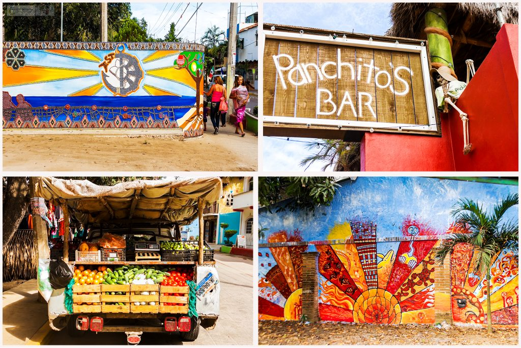 Street art and colour in San Pancho, in the Riviera Nayarit, Mexico on Mallory on Travel adventure travel, photography, travel Iain_Mallory_MexMontage