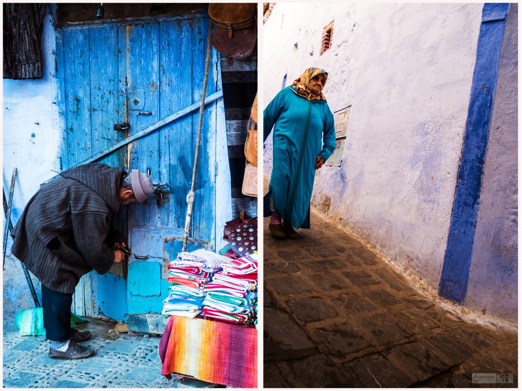 on Mallory on Travel adventureLocals in Chefchaouen, the Blue City of Morocco, in the Rif Mountains travel, photography, travel