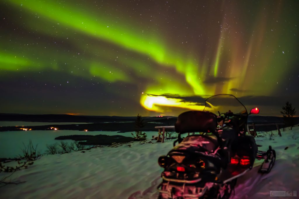 An aurora at the Sweden Icehotel on the Torne River in Jukkasjarvi, near the town of Kiruna in Swedish Lapland, inside the Arctic Circle, Scandinavian Europe on Mallory on Travel adventure travel, photography, travel Iain Mallory_Lapland-2
