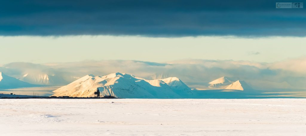 The coal loader at Hotellneset in Longyearbyen on the Norwegian archipelago of Svalbard at latitude 81 degrees North in the Arctic Circle on Mallory on Travel adventure travel, photography, travel Iain Mallory_Svalbard-1-112