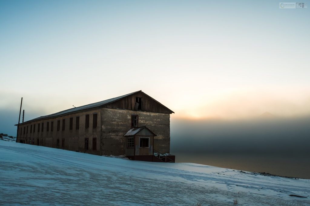 Abandoned storage building in Colesbukta, the Russian ghost town and mining port known as Coles Bay on the Isfjorden, Spitzbergen on the Norwegian archipelago of Svalbard on Mallory on Travel adventure travel, photography, travel Iain Mallory_Svalbard-1-22