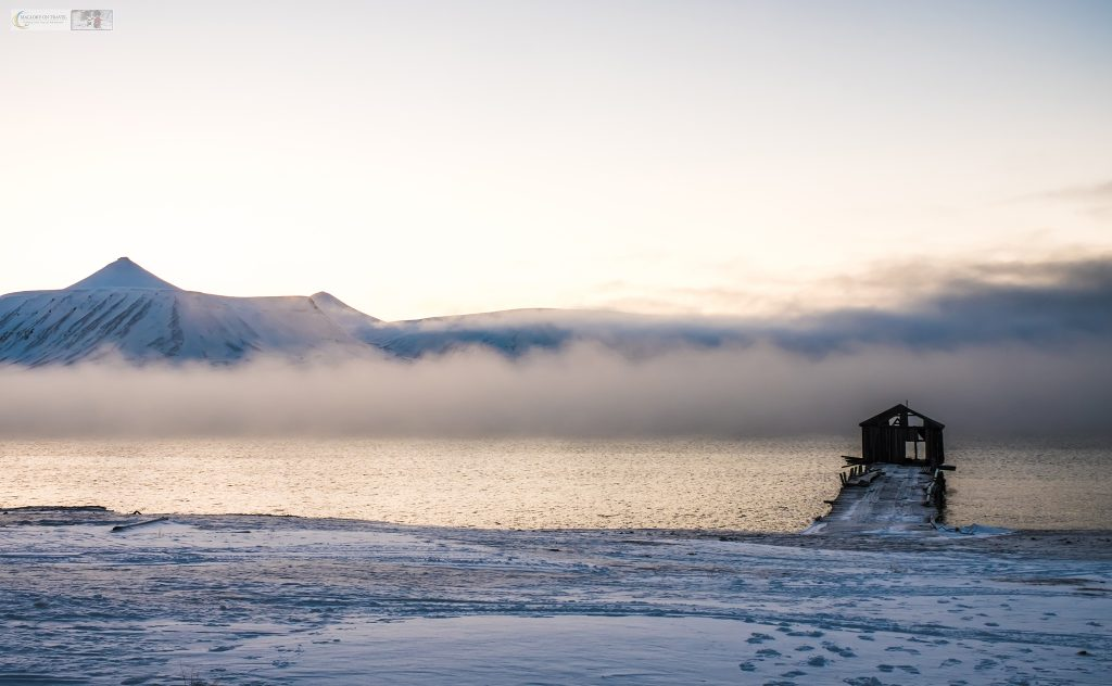 Rolling mist over the Isfjorden at Colebukta, a Russian ghost town known as Coles Bay on Spitzbergen in the Svalbard archipelago of Norway on Mallory on Travel adventure travel, photography, travel Iain Mallory_Svalbard-1-66