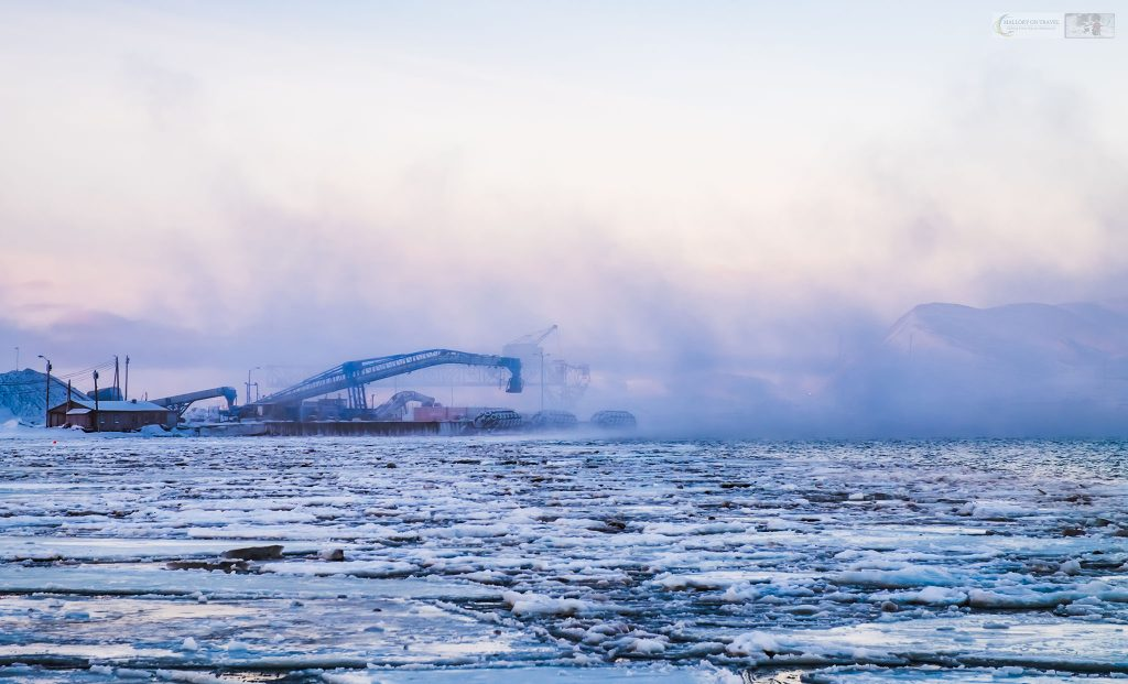 The coal loader at Hotellneset in Longyearbyen on the Norwegian archipelago of Svalbard at latitude 81 degrees North in the Arctic Circle on Mallory on Travel adventure travel, photography, travel Iain Mallory_Svalbard-1-73