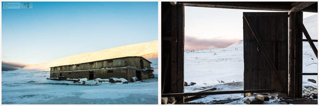 Building in Coles Bay or Colesbukta at the southern end of Isfjorden on Spitzbergen island, the largest in the Svalbard archipelago, Norway on Mallory on Travel adventure travel, photography, travel Iain Mallory_Svalbard montage2