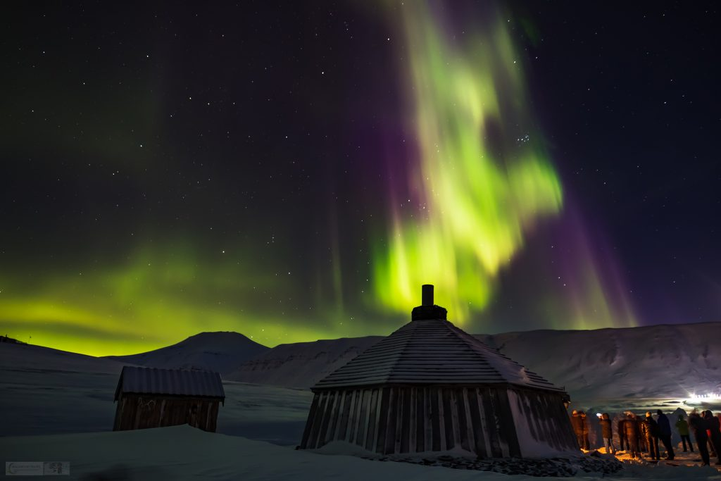 The Northern Lights over Camp Barentz near Longyearbyen, Spitzbergen, the largest island in the Svalbard archipelago, the Arctic Circle on Mallory on Travel adventure travel, photography, travel Iain Mallory_Svalbard-1-11