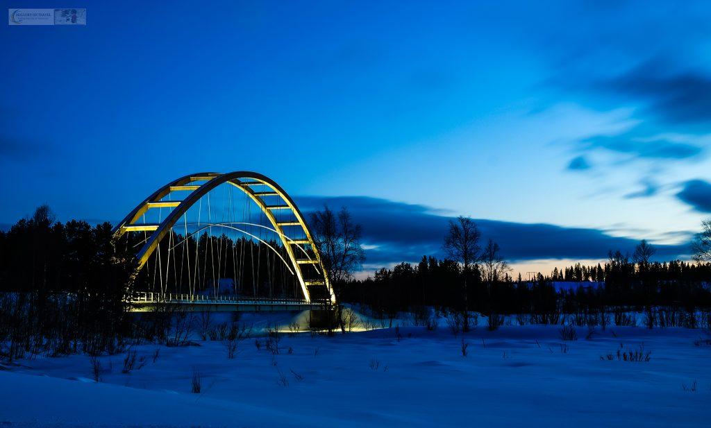 After a day dog sledding in Swedish Lapland, returning to Lappeasuando, near Gallivare at dusk on Mallory on Travel adventure travel, photography, travel Iain Mallory_Lapland-1-235