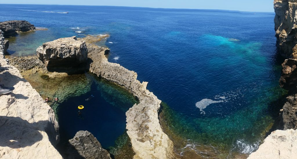 The Blue Hole, Gozo one of the Mediterranean islands making up the Malta group on Mallory on Travel adventure travel, photography, travel gozo_bluehole