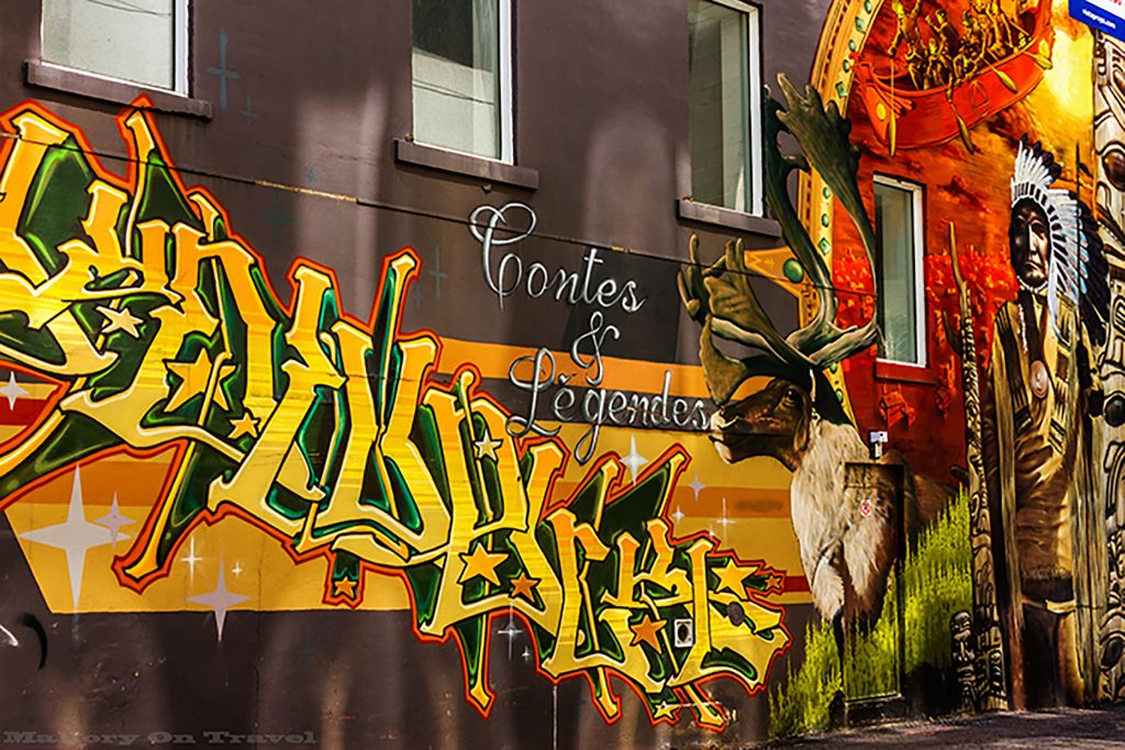 Best of Canada; Colourful First Nation street art in the French speaking city of Montreal, Canada on Mallory on Travel adventure travel, photography, travel Iain Mallory-107