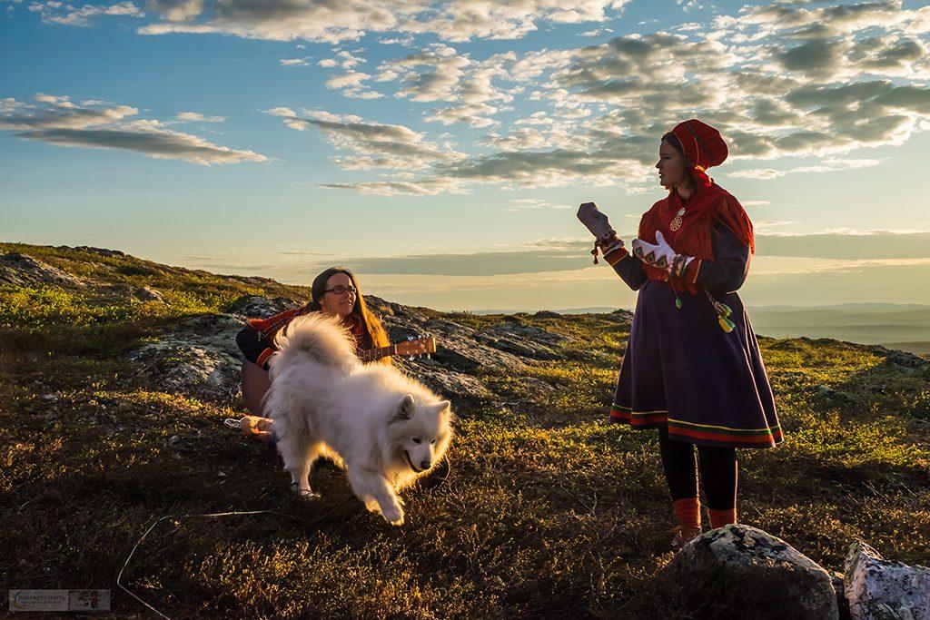 Sami performers singing during a nightless night on the Kiilopää fell near Inari, Arctic Finland on Mallory on Travel adventure travel, photography, travel Iain Mallory_finland-1-27