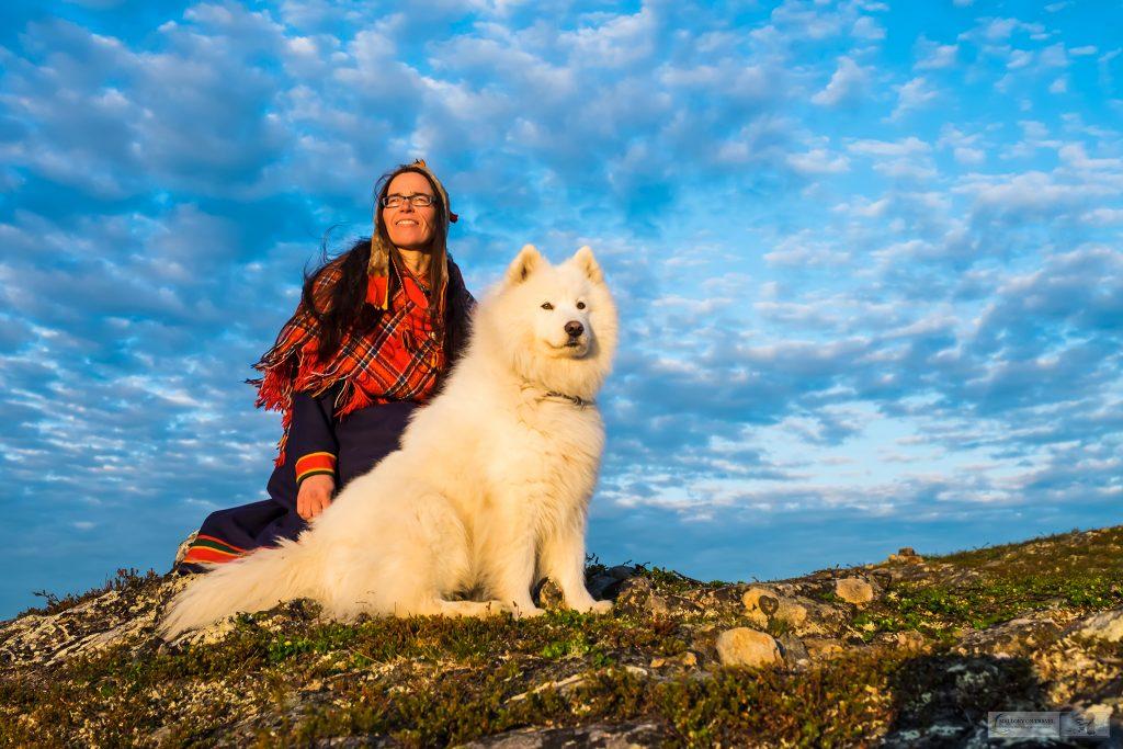 Sami performer in national dress on Kiilopää fell, on a nightless night deep on the Arctic Circle in northern Finland on Mallory on Travel adventure travel, photography, travel Iain Mallory_finland-1-36