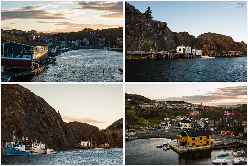 Quidi Vidi fishing village near downtown St John's, capital city of the province of Newfoundland and Labrador, Canada on Mallory on Travel adventure travel, photography, travel Iain Mallory_Quidi Vidi montage