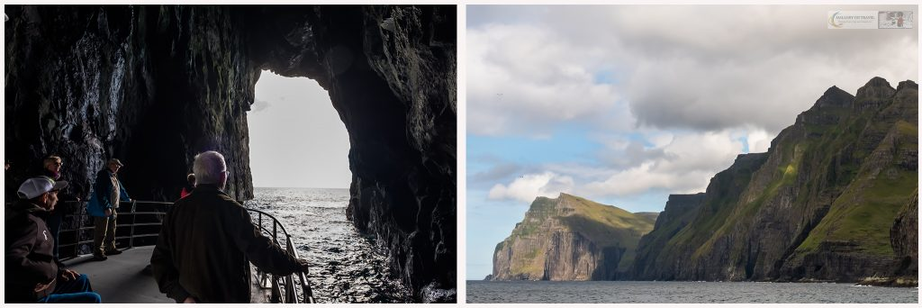 Navigating the grottos of Vestmanna sea cliffs in the Faroe Islands on a Windstar excursion from Torshavn on Mallory on Travel adventure travel, photography, travel Iain Mallory_faroesmontage2