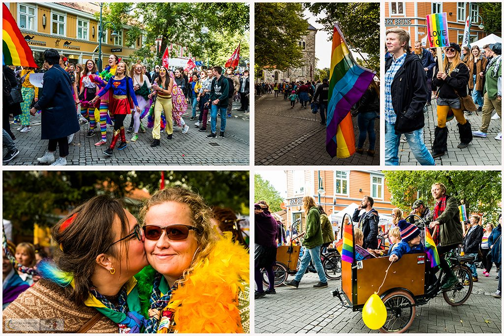 A gay pride parade through the city streets of Trondheim, capital of the Trondelag region of Norway on Mallory on Travel adventure travel, photography, travel Iain Mallory_trondelagmontage-1
