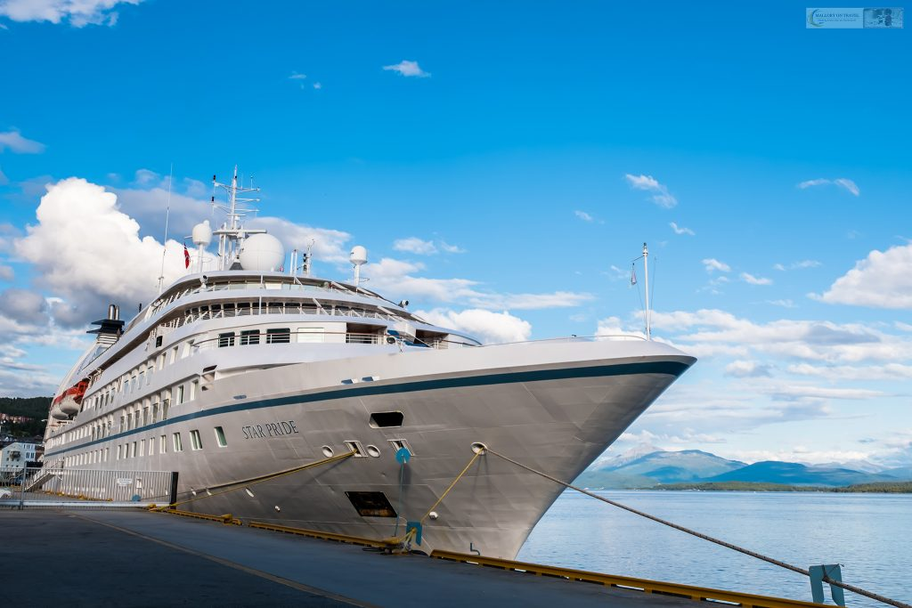 """The Windstar cruiseline """"Star Pride"""" moored at Molde on the Atlantic coastline of Norway on Mallory on Travel adventure travel, photography, travel Iain Mallory_windstar-1-32"""